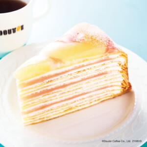 【新作】ドトールコーヒーで「福島県産白桃のミルクレープ」と「沖縄県産パインヨーグルト」を発売!