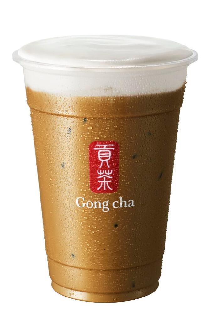 ゴンチャ 新 焙じ茶 ミルクティー ミルクフォーム