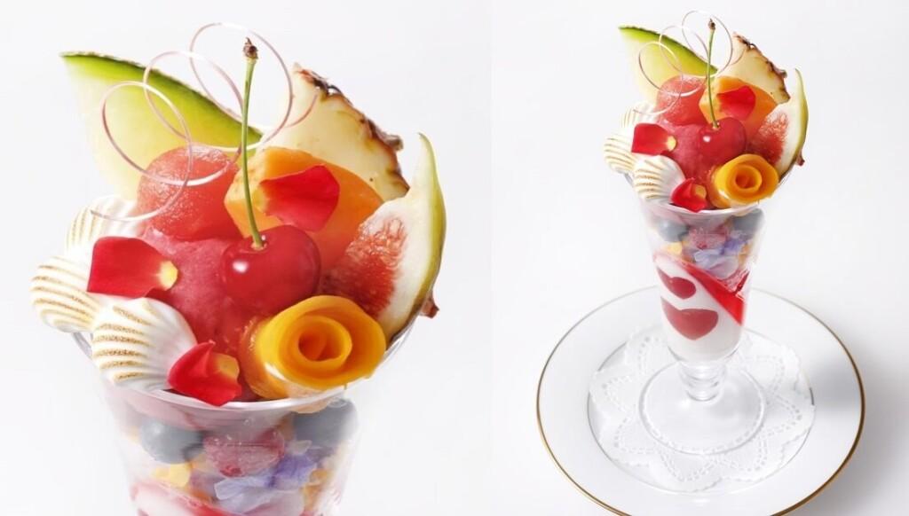 資生堂パーラーサロン・ド・カフェ ラゾーナ川崎店 3周年記念 国産フルーツのブーケパフェ