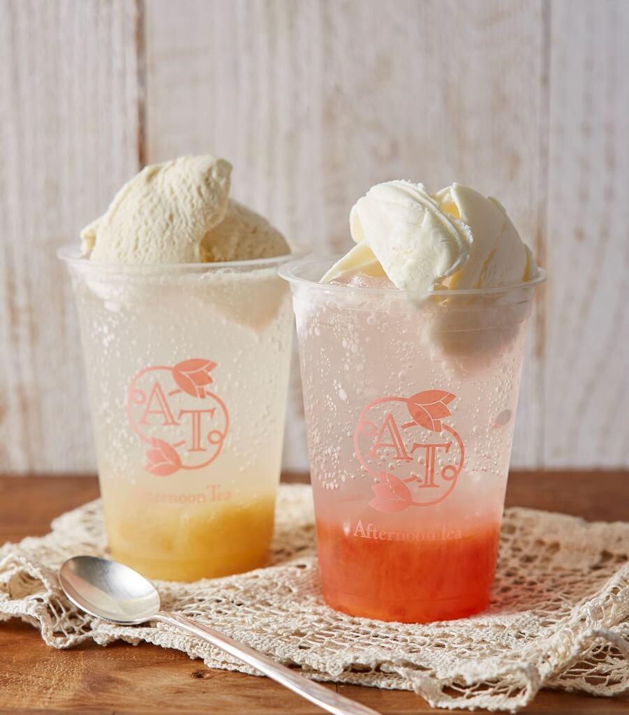 アフタヌーンティー・ラブアンドテーブル フランス産アイスクリームのクリームソーダ