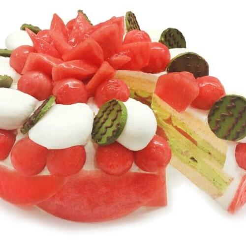 カフェコムサ 和歌山県産小玉スイカ「ひとりじめ7」を使用したショートケーキ