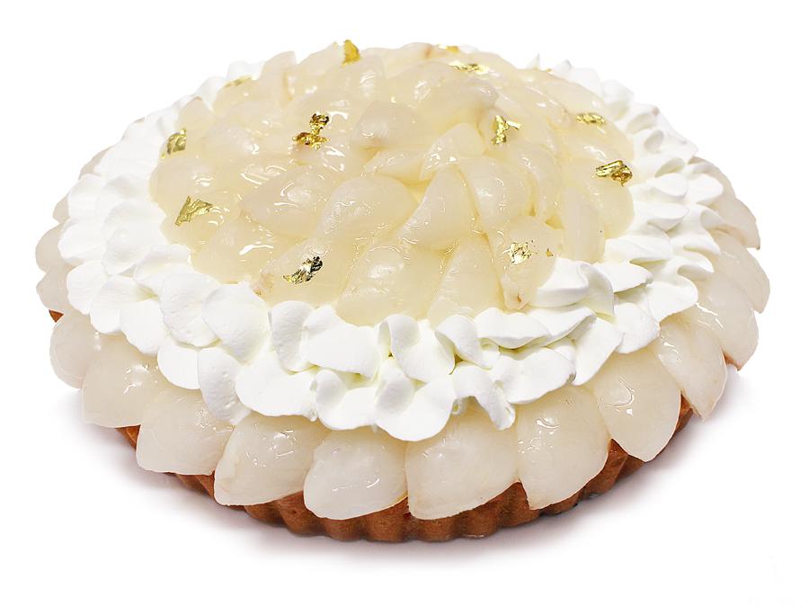 カフェコムサ 宮崎県 新富町産「生ライチ」のケーキ