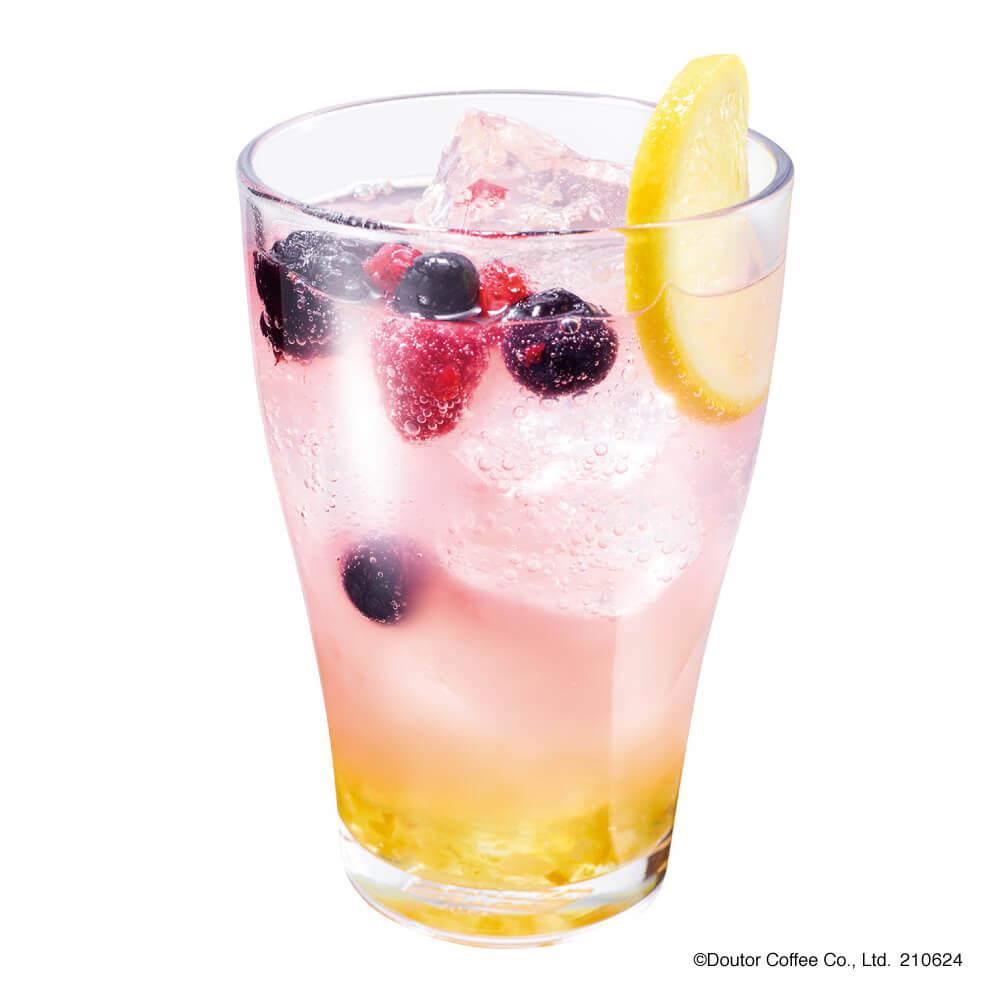 エクセルシオールカフェ ビネガーソーダ ピーチ&レモン