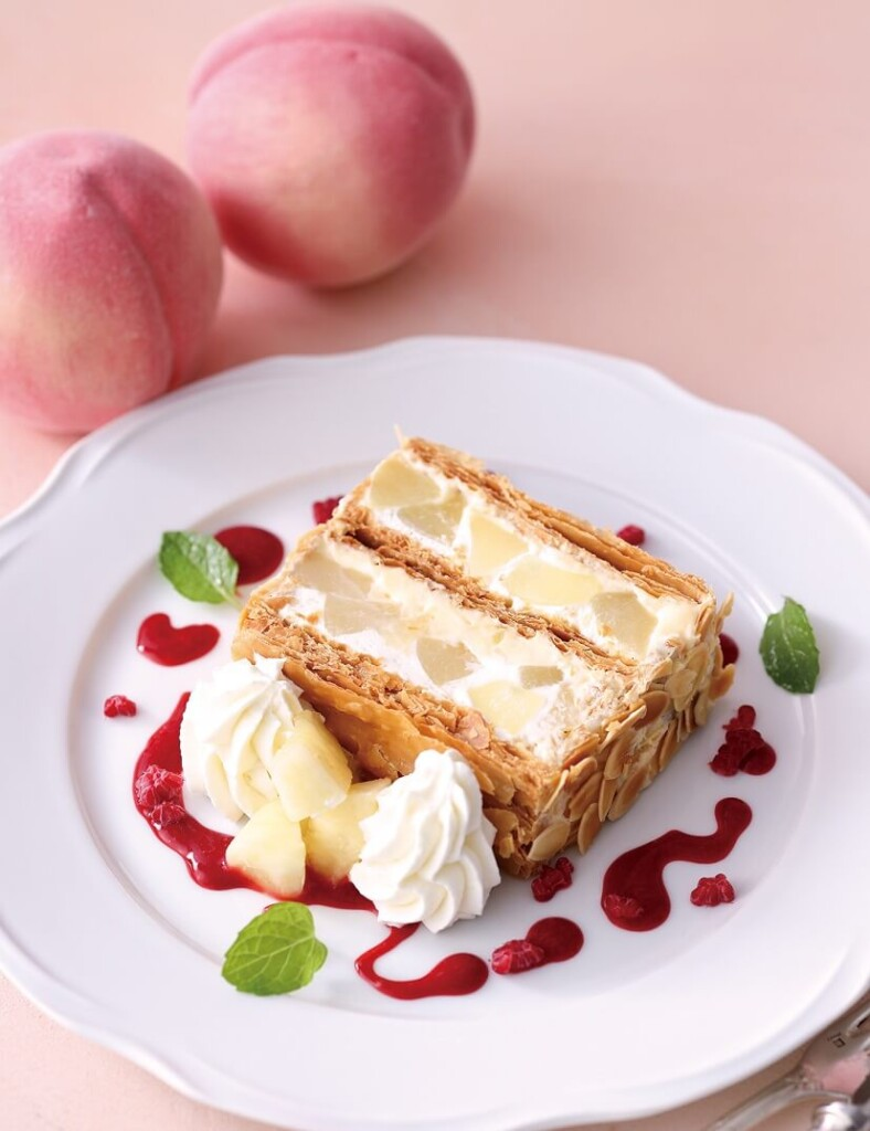 キハチカフェ 白桃のパイ