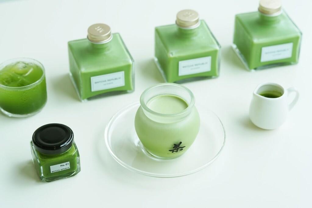 抹茶共和国 茶壺の抹茶パンナコッタ