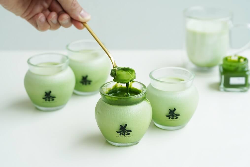 茶壺の抹茶パンナコッタ