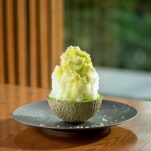 やさい家めい 北海道山川農園の『山川わさび』とメロンのかき氷