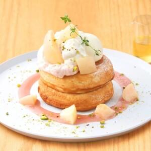【期間限定】ビブリオテークでフレッシュな桃がたっぷりな「白桃とマスカルポーネクリームのパンケーキ」発売!