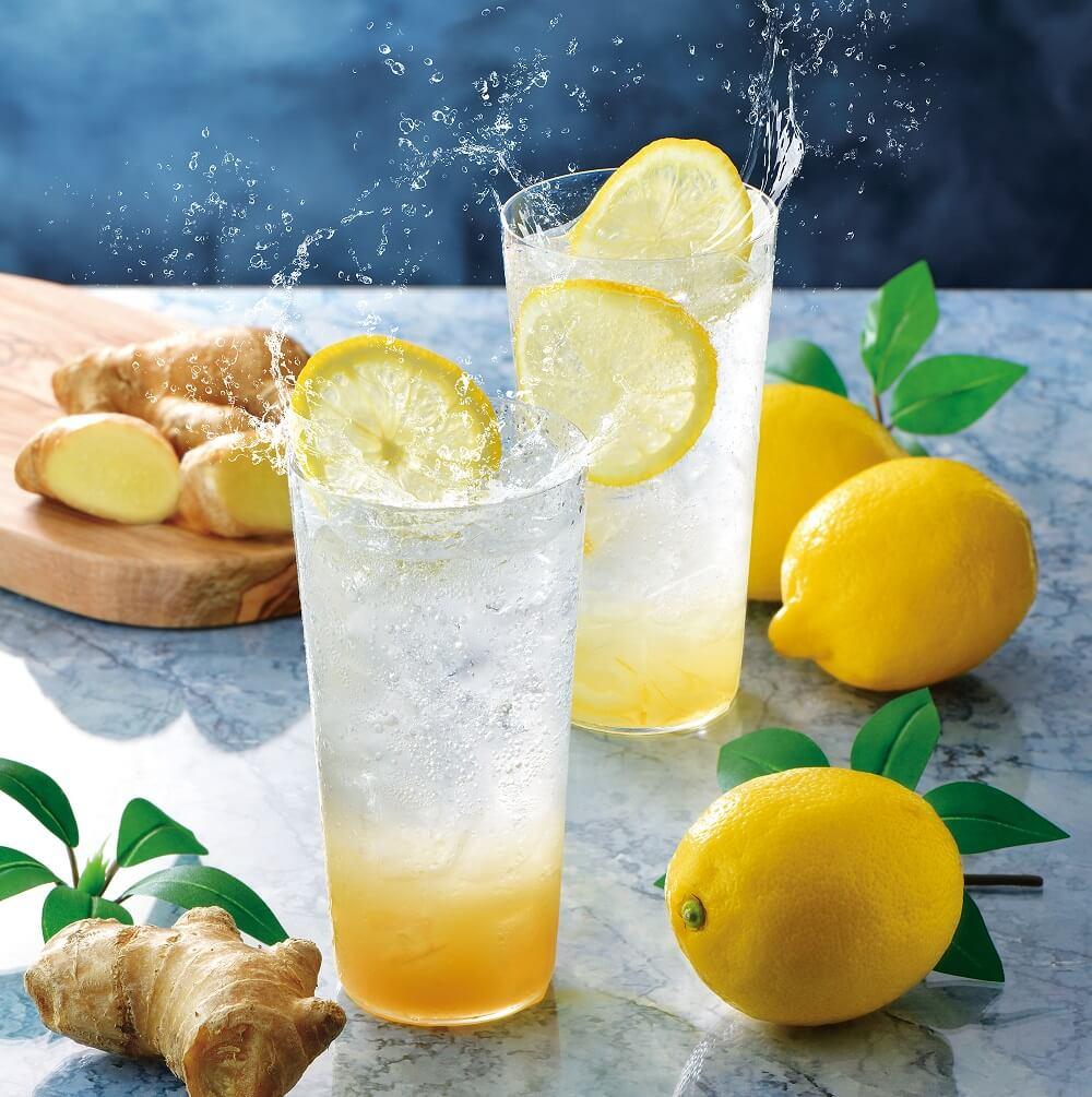 カフェドクリエ 『薫るジンジャーエール~国産生姜使用~』『レモンスカッシュ~レモンピール入り~』