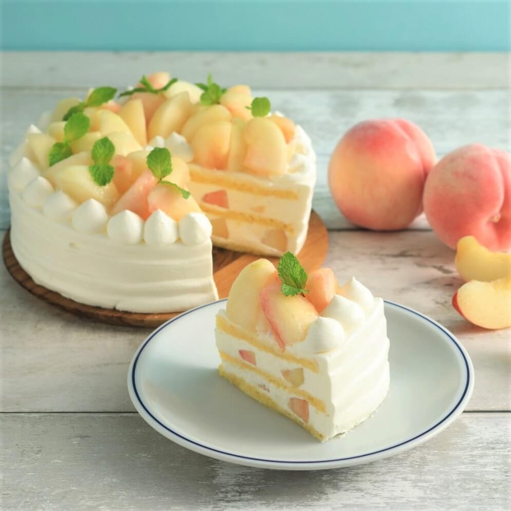 イーエーグラン 白桃ショートケーキ