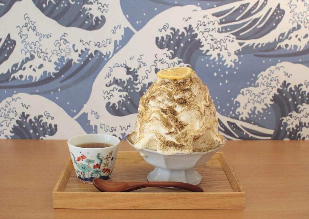 八屋 シトラスヨーグルトクリームとほうじ茶のかき氷