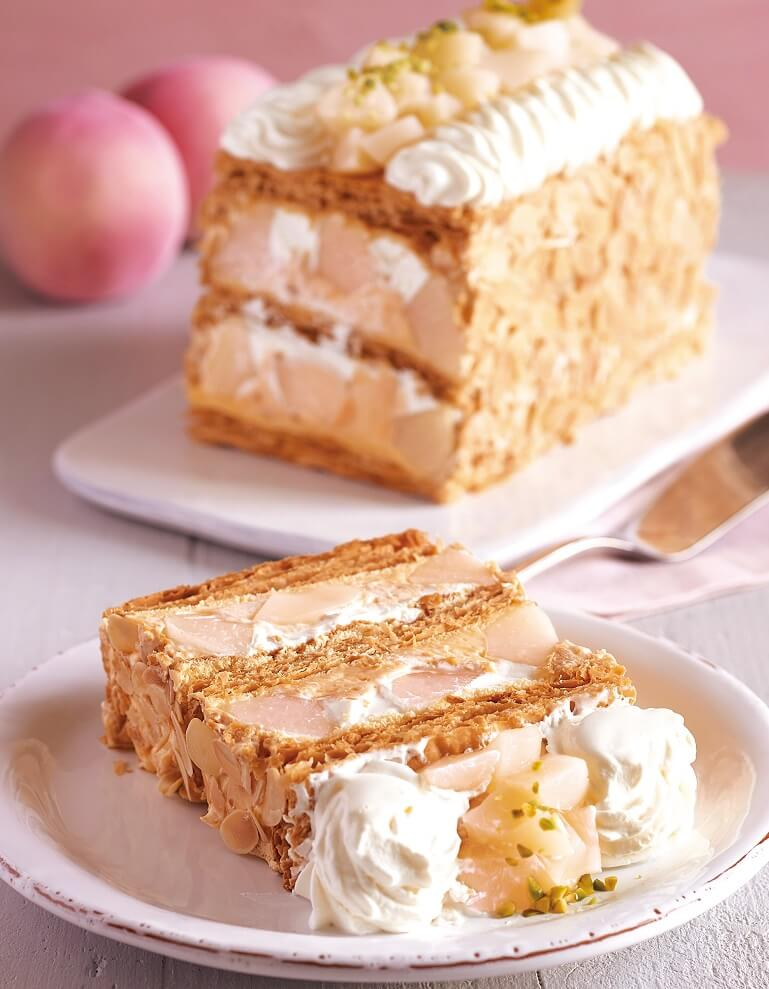 KIHACHIの白桃とヨーグルトクリームのピーチメルバパイ