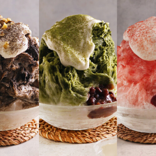 こなな 『チーズクリームの苺かき氷』『チーズクリームの抹茶かき氷』『チーズクリームのほうじ茶かき氷』