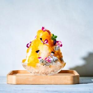 神宮前 らかん・果 低糖質かき氷 芒果(マンゴー)~ドラゴンフルーツ~