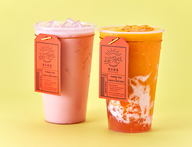 LaTREE(ラ・ツリー) 果茶果酒 スイカミルクティー  マンゴーぷるぷるフローズン