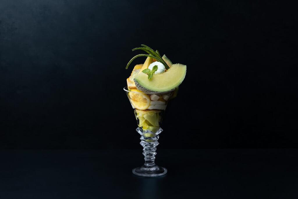 メロンとロマン メロンとレモンのグランパフェ