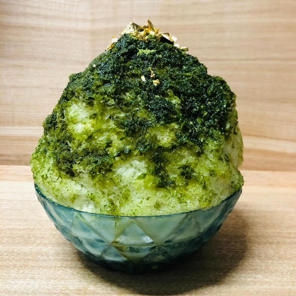 オマッチャサロン 極上濃い抹茶かき氷《緑茶付き》