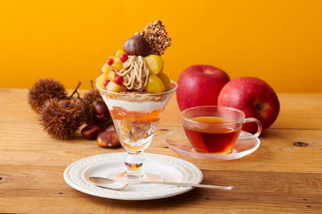 Afternoon Tea TEAROOM 渋皮栗と林檎のモンブランパフェ