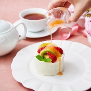 スイートフルーツティーのショートケーキ