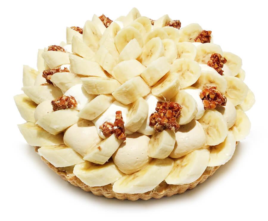 コムサ フィリピン産バナナ「甘熟王」と塩キャラメルナッツのケーキ