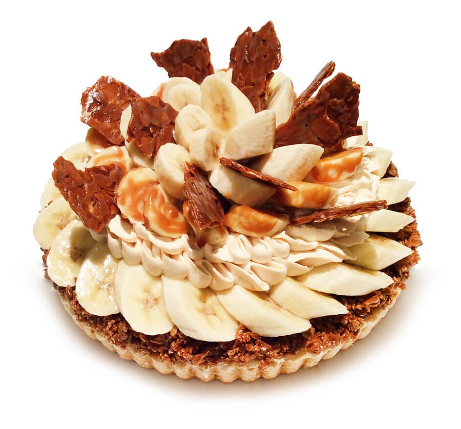 コムサ フィリピン産バナナ「甘熟王」とキャラメルナッツのケーキ