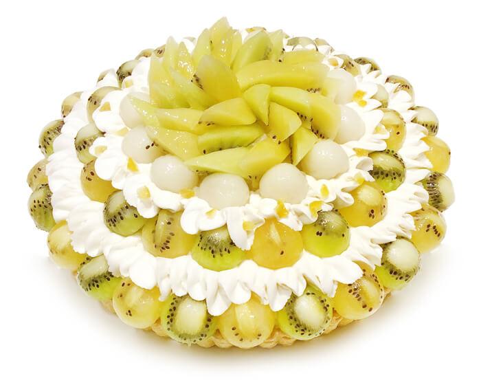 コムサ 2種のキウイとレモン餡のケーキ
