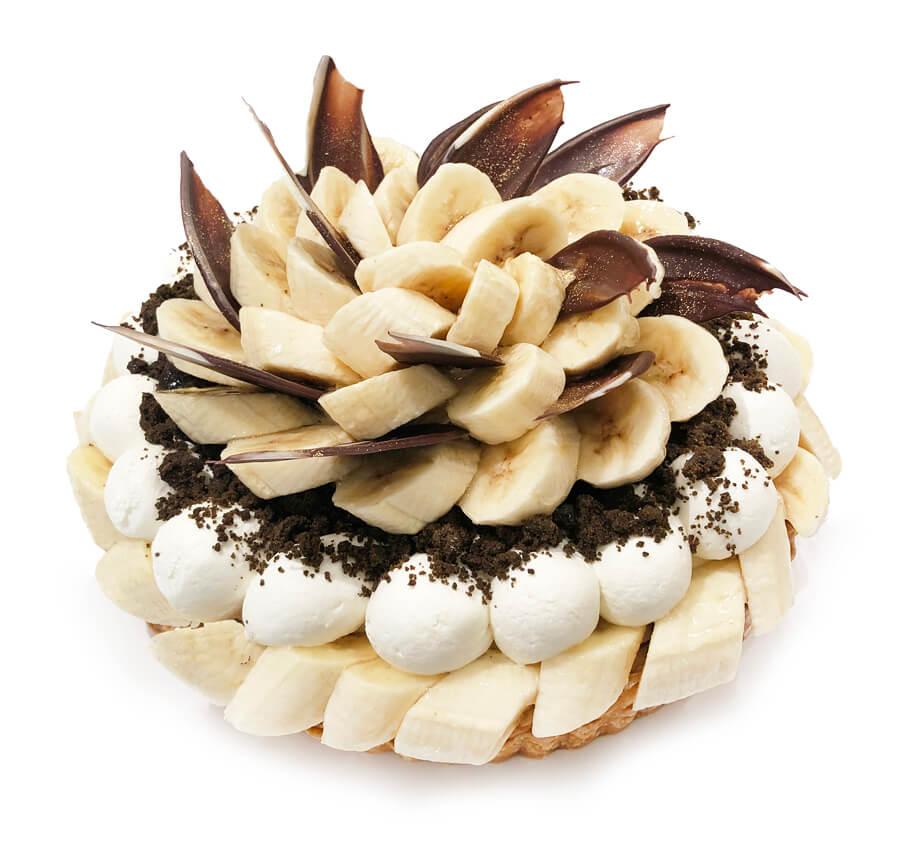 コムサ フィリピン産バナナ「甘熟王」とほうじ茶クラムのケーキ