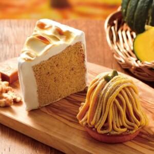 【新作】カフェドクリエで秋の訪れを感じる「かぼちゃのモンブラン」「キャラメルシフォンケーキ」を発売!