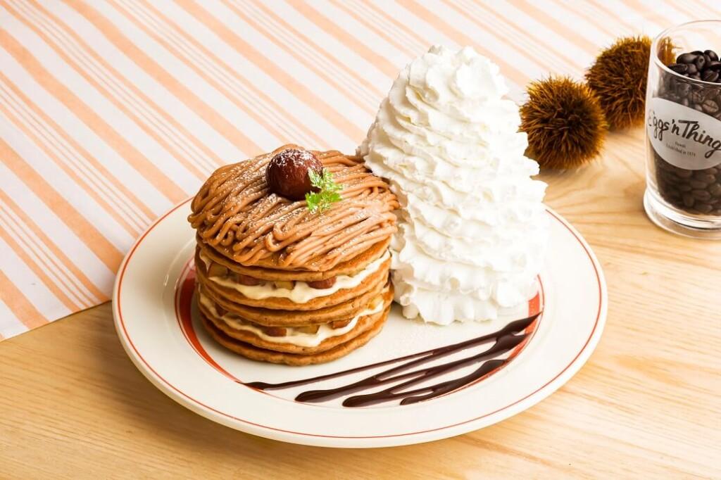 エッグスンシングス 『コナコーヒーとモンブランのパンケーキ』