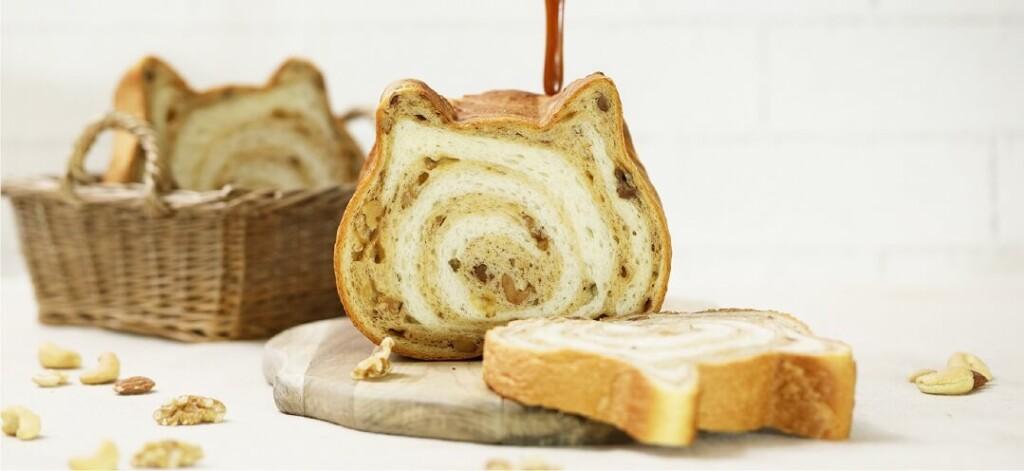 ねこねこ食パン キャラメルナッツ