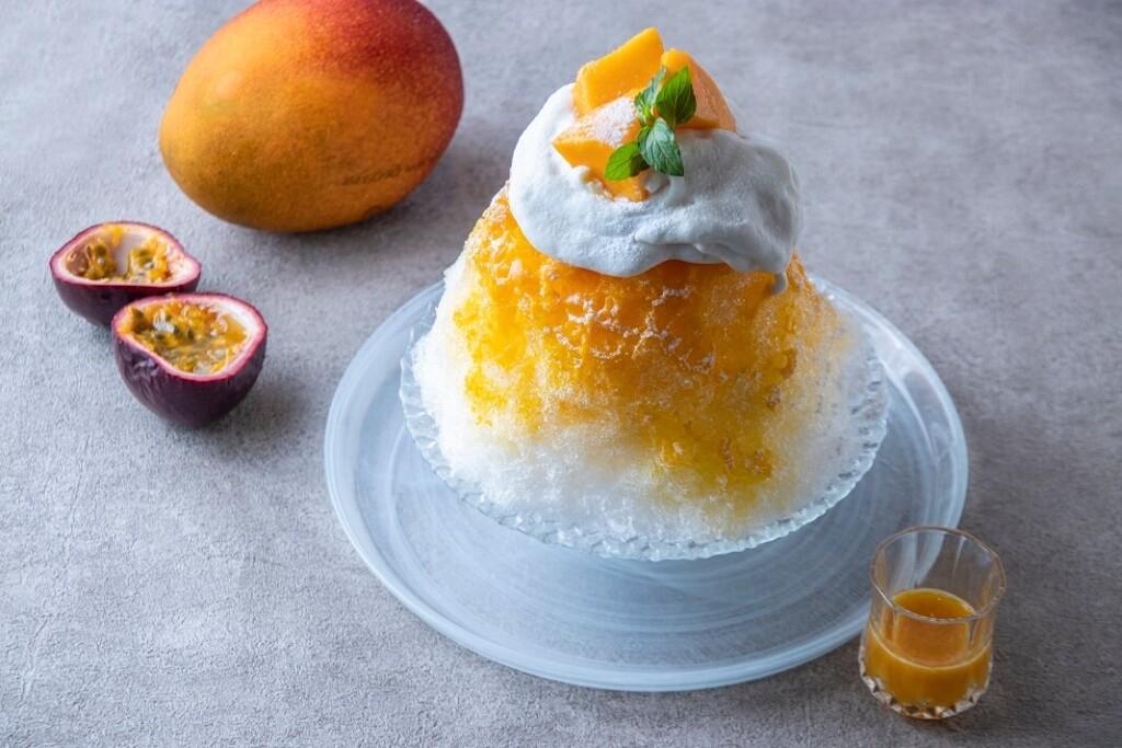 ニューライト マンゴーとパッションフルーツのかき氷