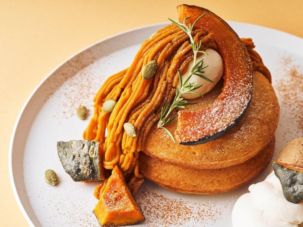 ビブリオテーク 有機かぼちゃモンブランクリームパンケーキ