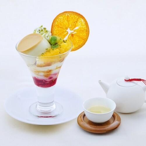 茶語 ピスタチオプリンアラモード