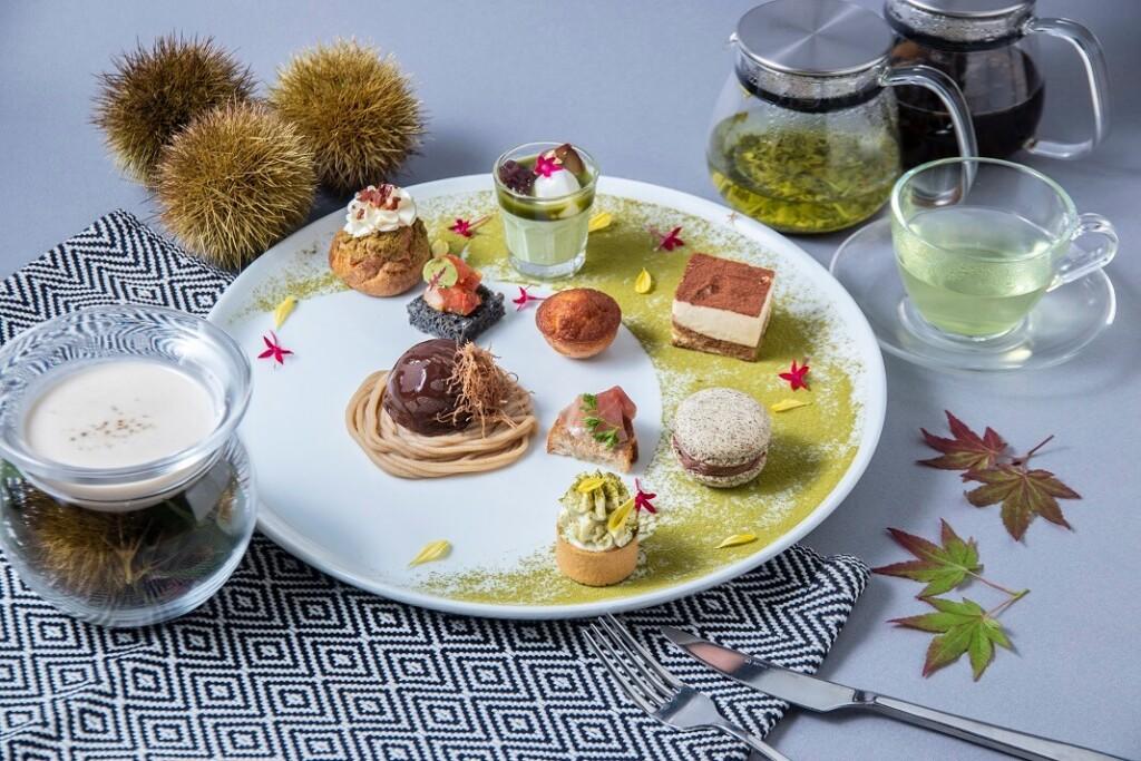 リバーサイドカフェ シエロ イ リオ 日本茶と栗のアフタヌーンティー
