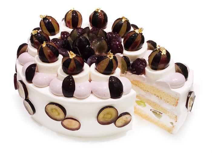 カフェコムサ 長野県産「ブラックビート」とミルクムースのショートケーキ