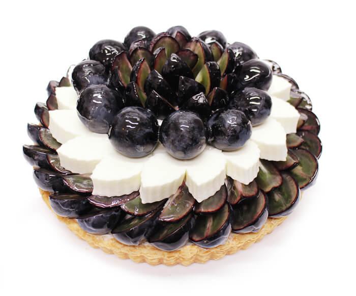カフェコムサ 長野県産ぶどう「ナガノパープル」とヨーグルトムースのケーキ