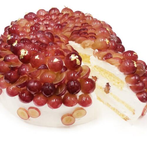 カフェコムサ 大野農園産ぶどう「コトピー」のショートケーキ