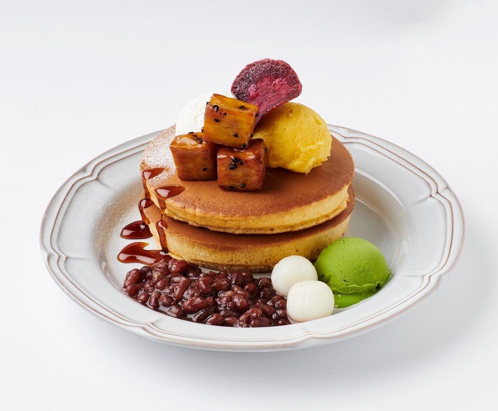 珈琲館 三種のお芋のホットケーキ