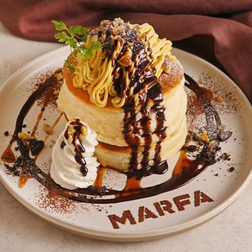 マーファカフェ さつまいものモンブランパンケーキ