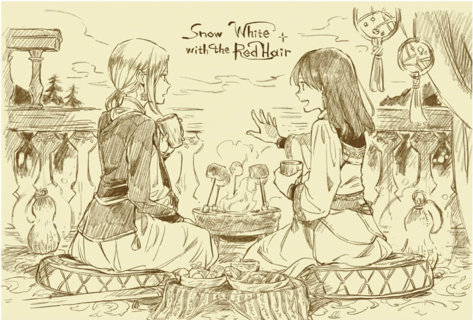 【カフェオリジナル描きおろし】「15th Anniversary 赤髪の白雪姫コラボレーションカフェ」オリジナルポストカード特典