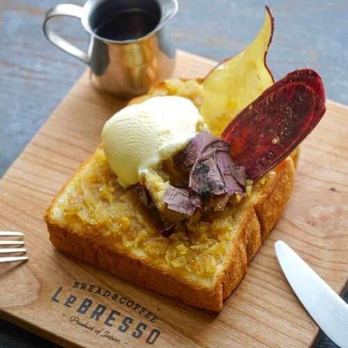 レブレッソ 焼き芋専門店 蜜香屋コラボ 焼き芋&バニラアイストースト