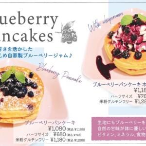 【新作】中目黒モケスハワイでブルーベリーがたっぷりな秋の新作パンケーキを発売!