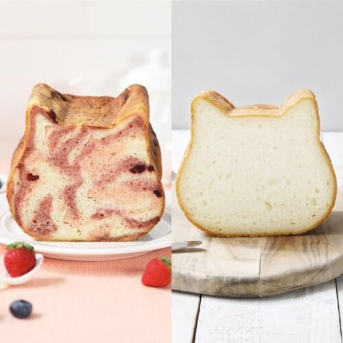 ねこねこ食パン(Mixベリー クリームチーズ&プレーン)